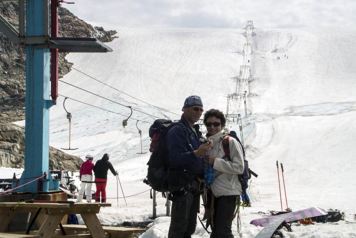 Glaciar y estación de esquí Fonna
