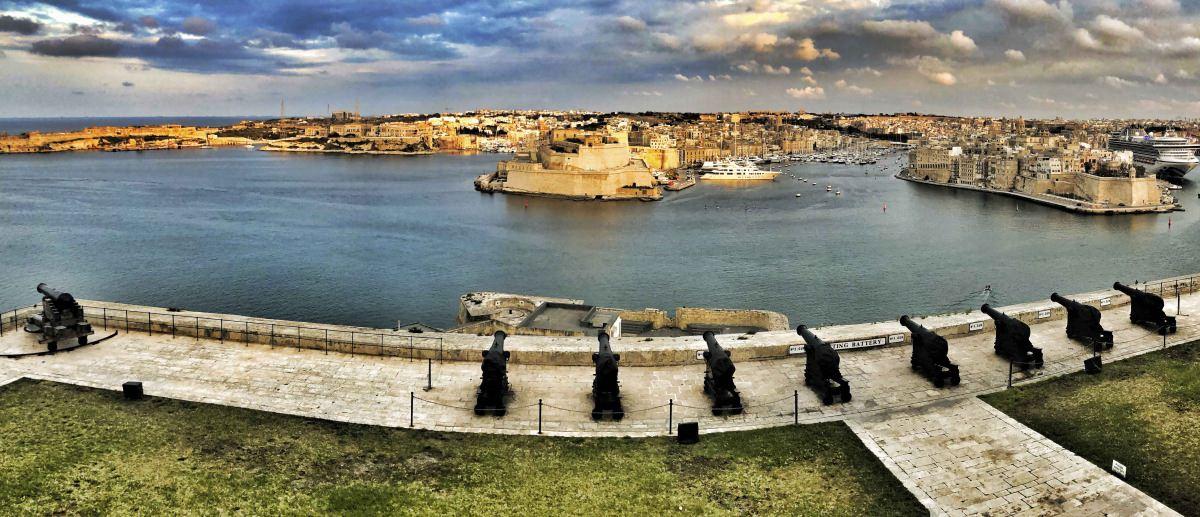 Atardecer en Upper Barrakka (La Valletta)