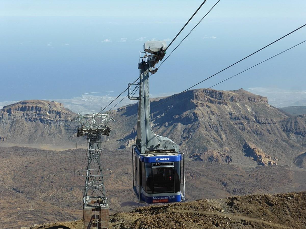 Subir a la cima del Teide en teleférico