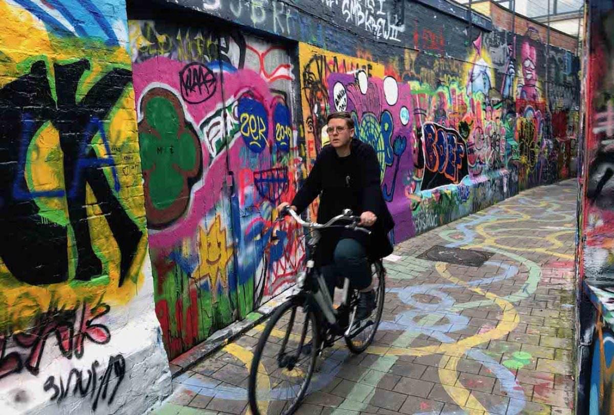 Werregaven, el callejón de los grafitis