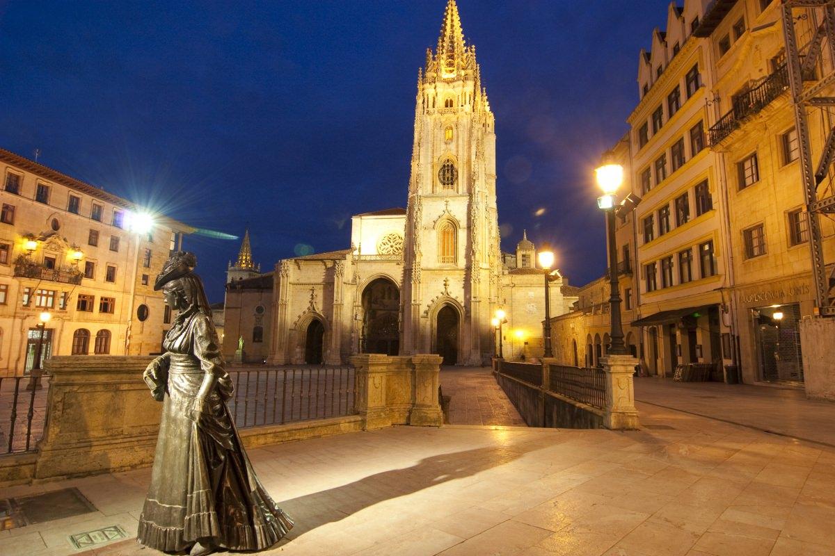 La catedral y el casco antiguo de Oviedo