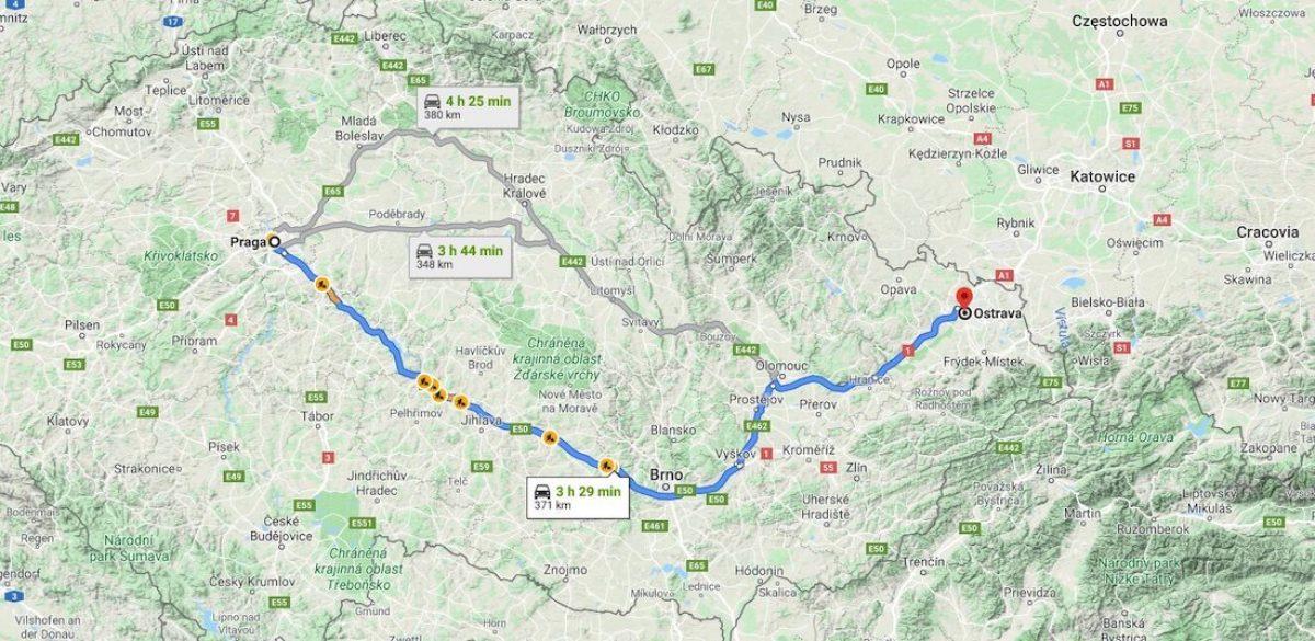 ¿Cómo llegar desde Praga a Ostrava?