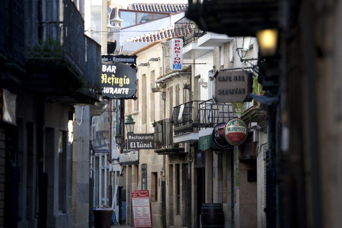 El casco histórico de Baiona
