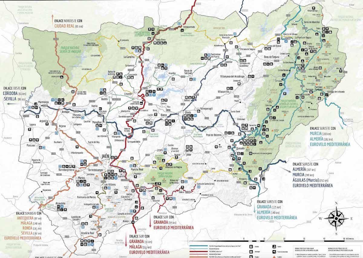 Principales rutas de cicloturismo en la provincia de Jaén