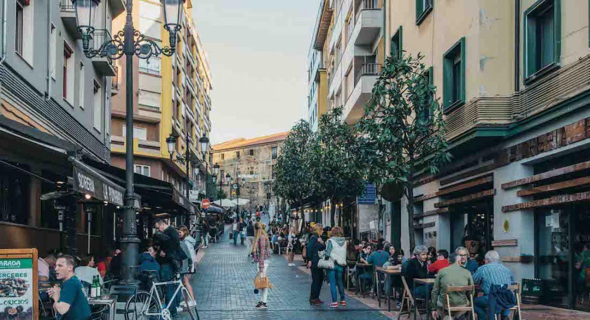 Calle Gascona, la calle de las sidrerías