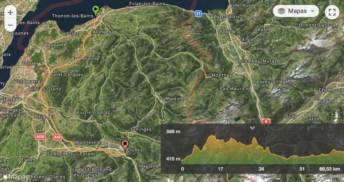 Mapa y perfil etapa 1