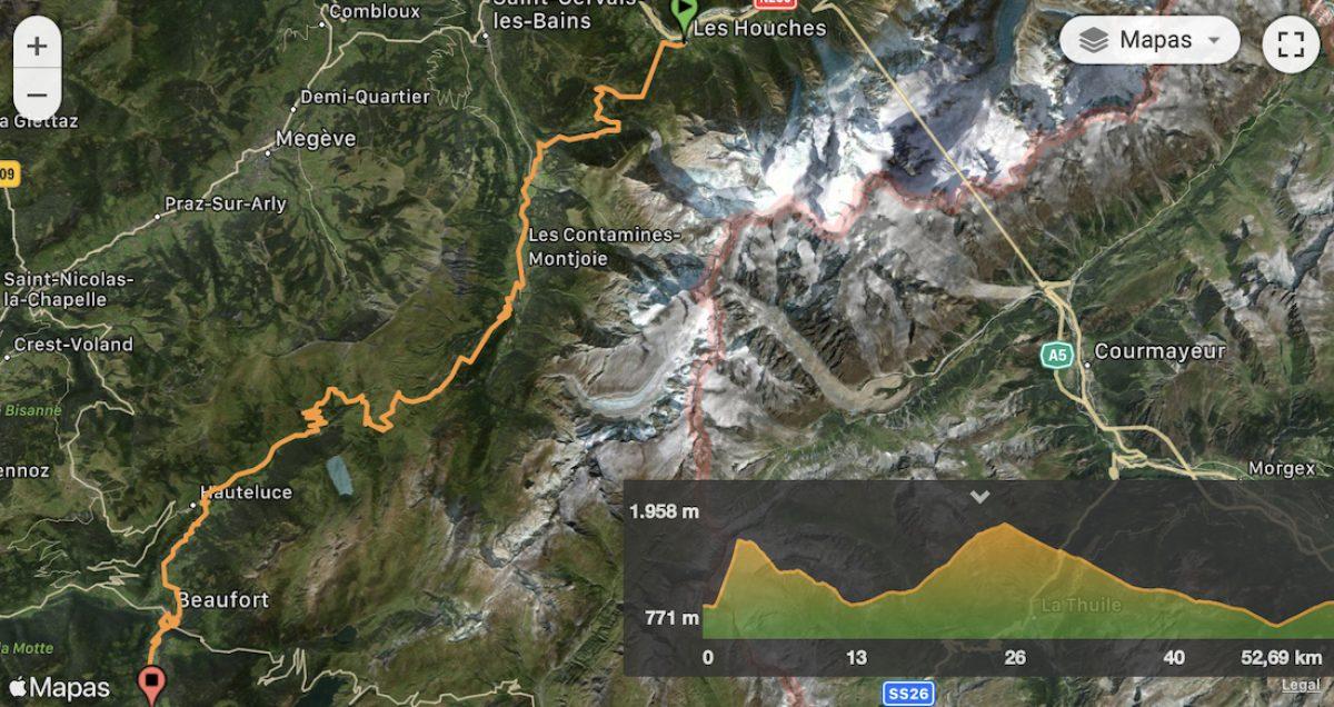 Mapa y perfil etapa 3