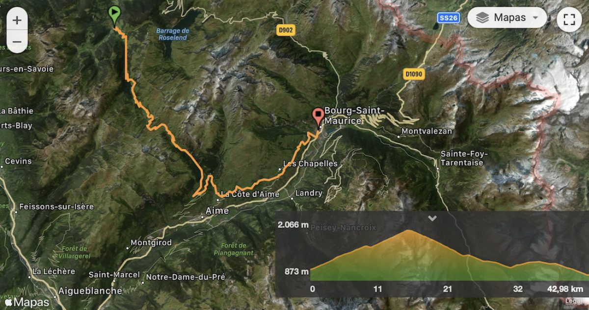Mapa y perfil etapa 4