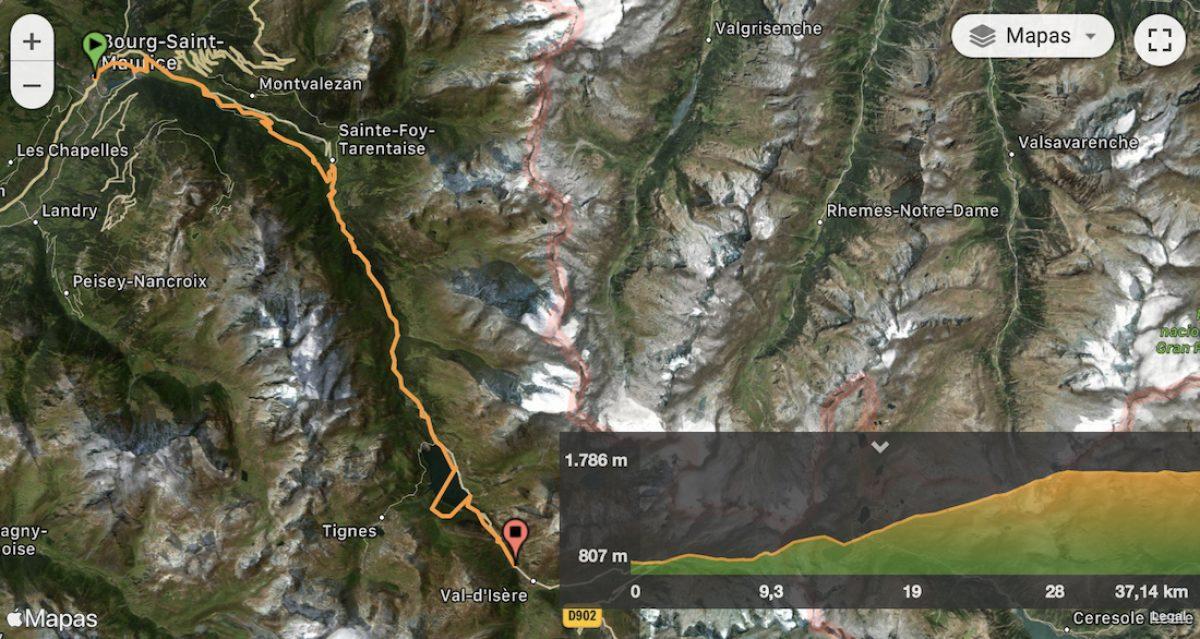 Mapa y perfil etapa 5