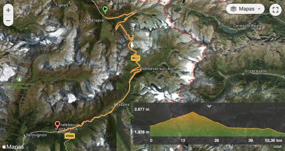 Mapa y perfil etapa 6