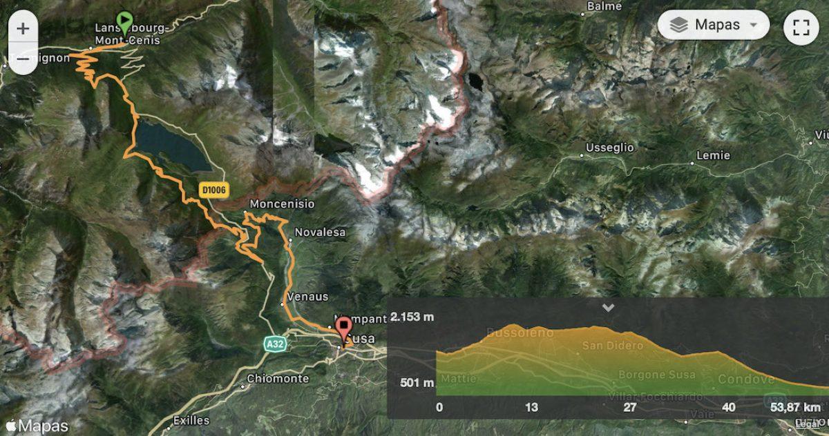 Mapa y perfil etapa 7