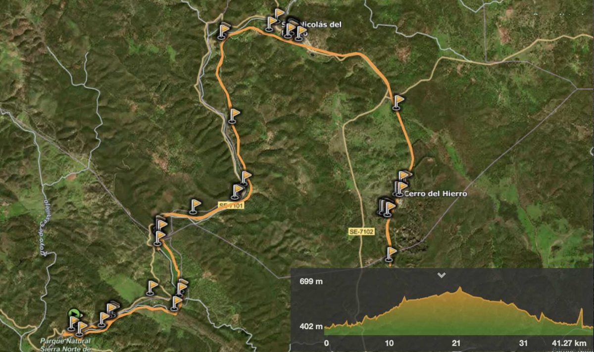 Distancia 37,4 kilómetros /Desnivel acumulado 229 mts. / 2 horas 50 minutos