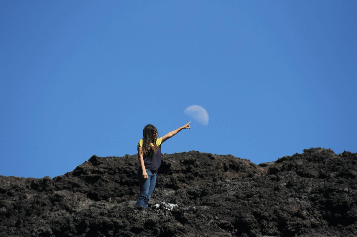 Ascender a un volcán