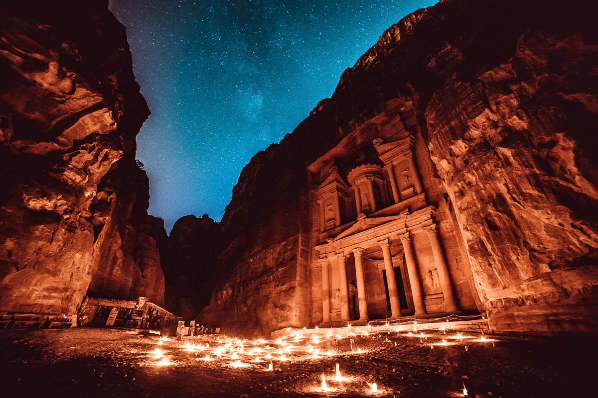 Petra de noche - Petra by night