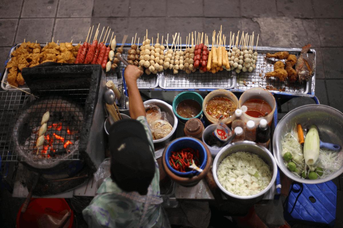 Comer por las calles de Bangkok