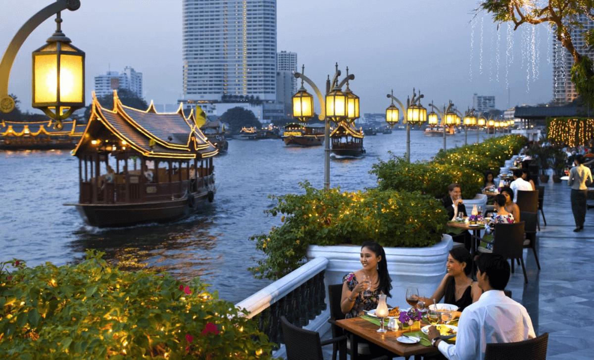 Cenar en la terraza del Mandarin Oriental Hotel