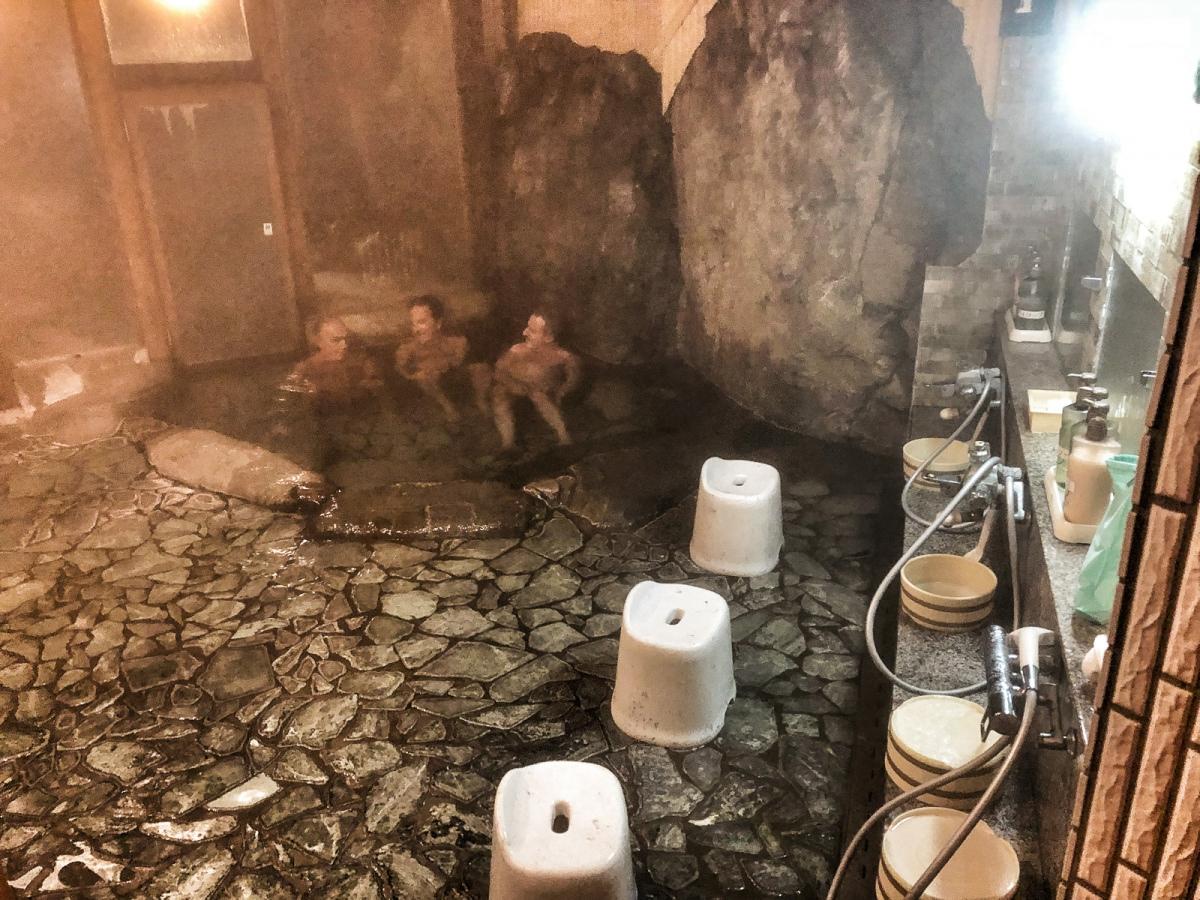 Darse un baño en un onsen