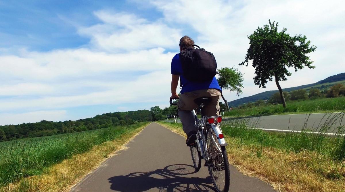 El carril bici del Weser