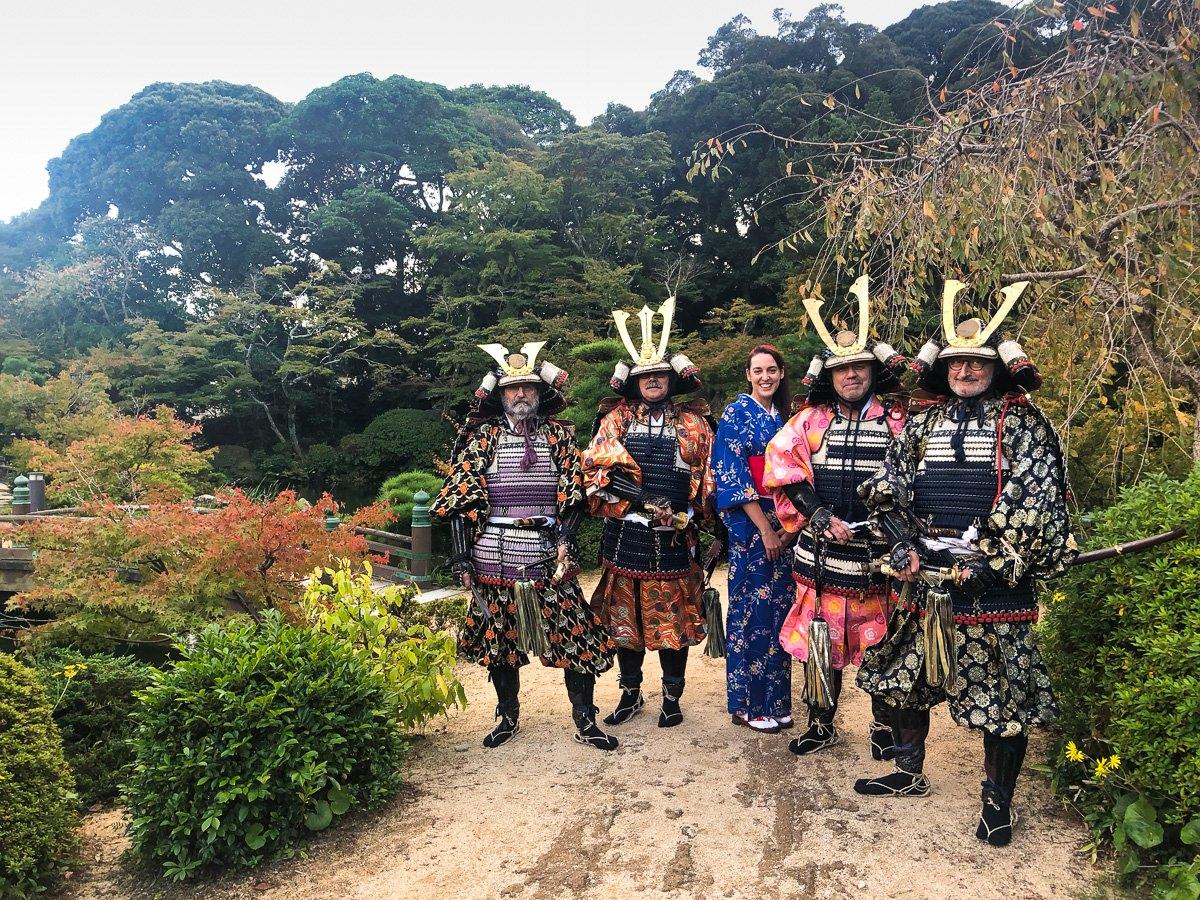 Vestirse como un auténtico samurai