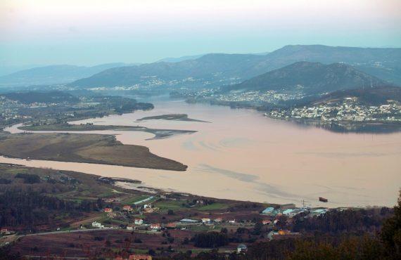 Ruta de Baiona a Tui por la desembocadura del Miño (Galicia)